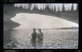 Phoebe Katherine and William Finley, Jr. swimming