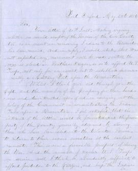 Letter from Joel Palmer to William H. Harris