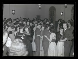 Students at Marylhurst College junior dance, 1944?