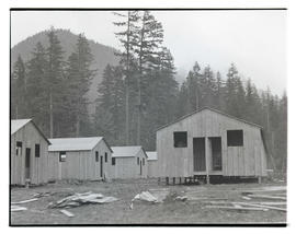 Buildings at Civilian Conservation Corps camp in Zigzag, Oregon