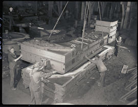 Mold construction at Columbia Steel Casting Company