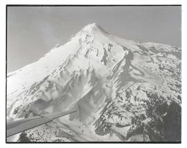 Aerial view, east face of Mount Hood