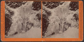 """Multnomah Falls in Winter, Cascades, Oregon"" (Stereograph E30)"
