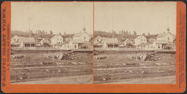 """Dalles City, Columbia River."" (Stereograph 1315)"