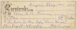 Receipt from A. L. Saylor