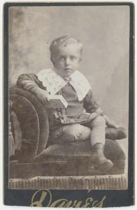 Portrait of an unidentified young boy from Davies Studio