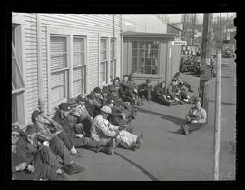 Workers on break at Albina Engine & Machine Works, Portland