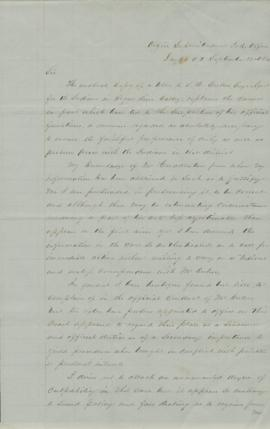 Letter discussing suspension of Samuel H. Culver as Indian Agent