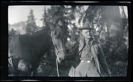Unidentified man with horse