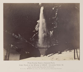 """D.129. From Rooster Rock to Oneonta Falls. Upper Multnomah Fall, after the Chinook."""