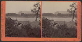 """Castle Rock, from Bonneville, Oregon."" (Stereograph E11)"