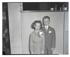 Rosanne Turley and Ronald Taylor, 1947 Junior Rose Festival royalty