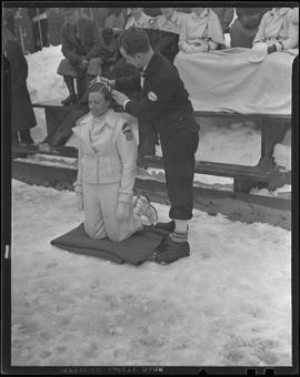Winter Sports Carnival Queen being crowned
