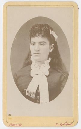 Portrait of an unidentified woman from F. M. Manning and Lady Photographers