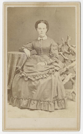 Portrait of an unidentified woman from Brown & Otto Studio