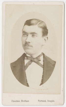 Portrait of an unidentified man from Davidson Bros. Studios