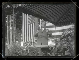 Vice President Calvin Coolidge speaking at groundbreaking ceremony, Portland