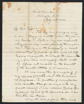 Letter from Delazon Smith to Mary Shepherd Smith