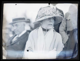 First Lady Florence Harding on reviewing stand? in Meacham, Oregon