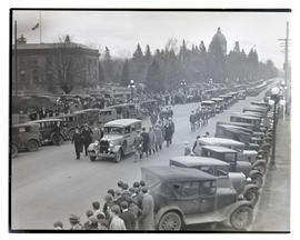 Funeral procession of Governor Isaac L. Patterson, Salem, Oregon