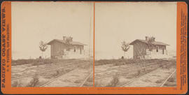"""O.S.N. Co's Office, Dalles City, Columbia River."" (Stereograph 1309)"