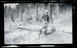 Jap Hills with a hunting dog