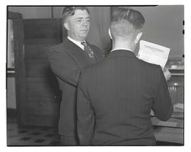 Charles F. Walker? showing letter from Kinman Business University to unidentified man