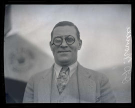 George O. Noville at air circus on Swan Island, Portland