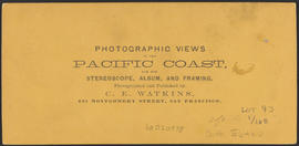 "Verso of, ""In Camp, O.R.R. Columbia River Cascades."" (Stereograph 1288)"