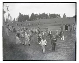 Crowd on golf course at Waverley Country Club, Portland