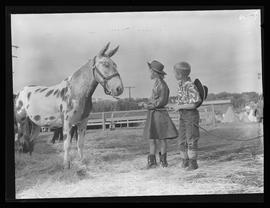Children with horse at Pendleton Round-Up
