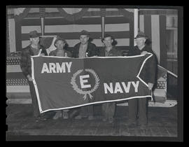 "Army-Navy ""E"" Award presentation ceremony and reception"