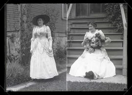 Unidentified woman, two full-length portraits