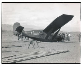 Pangborn and Herndon's plane after landing near Wenatchee, Washington