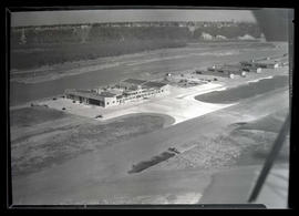 Aerial view of Swan Island airport, Portland