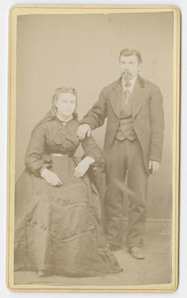 Alexander O. Aune portrait of an unidentified man and woman
