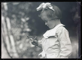 Phoebe Katherine Finley Holding a Swallow