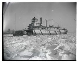 Steamer N. R. Lang trapped in ice?