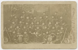 Unidentified large group of men in military uniform