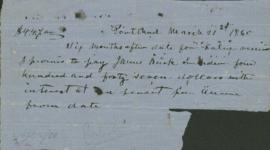 Promissory note to James Burk