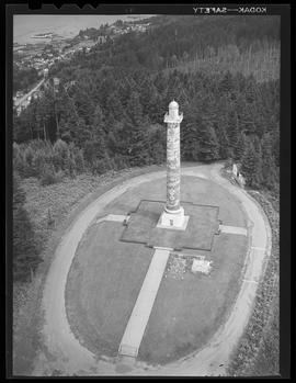 Aerial view of Astoria Column