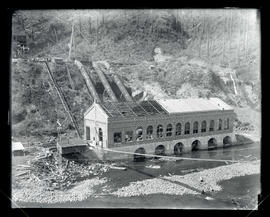 Cazadero Dam, powerhouse construction
