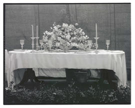 Dining table arrangement at 1931 Portland Flower and Garden Show