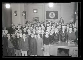 Group of boys at telephone company?