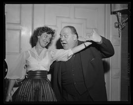Opera singers Salvatore Baccaloni and Barbara Gibson