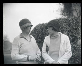 Mrs. Harry Olinger and Mrs. Ercel Kay, golfers