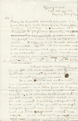 Copy of letter to Walton DuCall