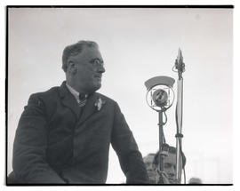 Franklin D. Roosevelt during campaign stop at Western Washington state fair
