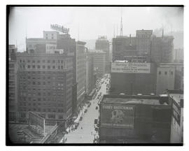 View of 6th Street, downtown Portland, facing southwest
