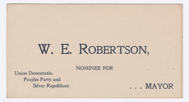 William Edie Robertson mayoral run